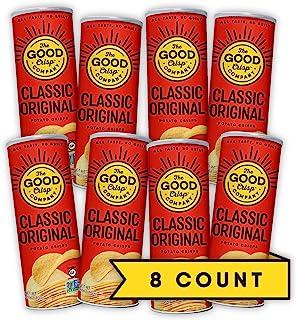The Good Crisp Company, Original Gluten Free Potato Chips (5.6oz, Pack of 8), Non-GMO, Allergen Friendly, Stacked Potato C...