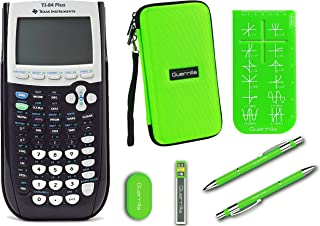 Texas Instruments TI-84 Plus Graphing Calculator + Guerrilla Zipper Case + Essential Graphing Calculator Accessory Kit (Green)