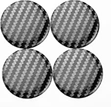 45mm Carbon Fiber Style Wheel Center Caps Hub Caps Stickers Clear Resin Set of 4