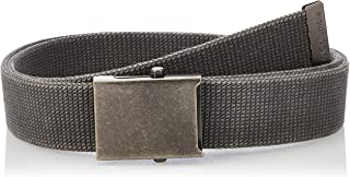 Columbia Men's Military Web Belt - Casual for Jeans Adjustable One Size Cotton Strap and Metal Plaque Buckle