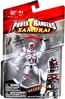 Bandai Year 2011 Power Rangers Samurai Series 4-1/2 Inch Tall Action Figure - Villain DEKER with Uramasa Samurai Sword and Red Broadsword