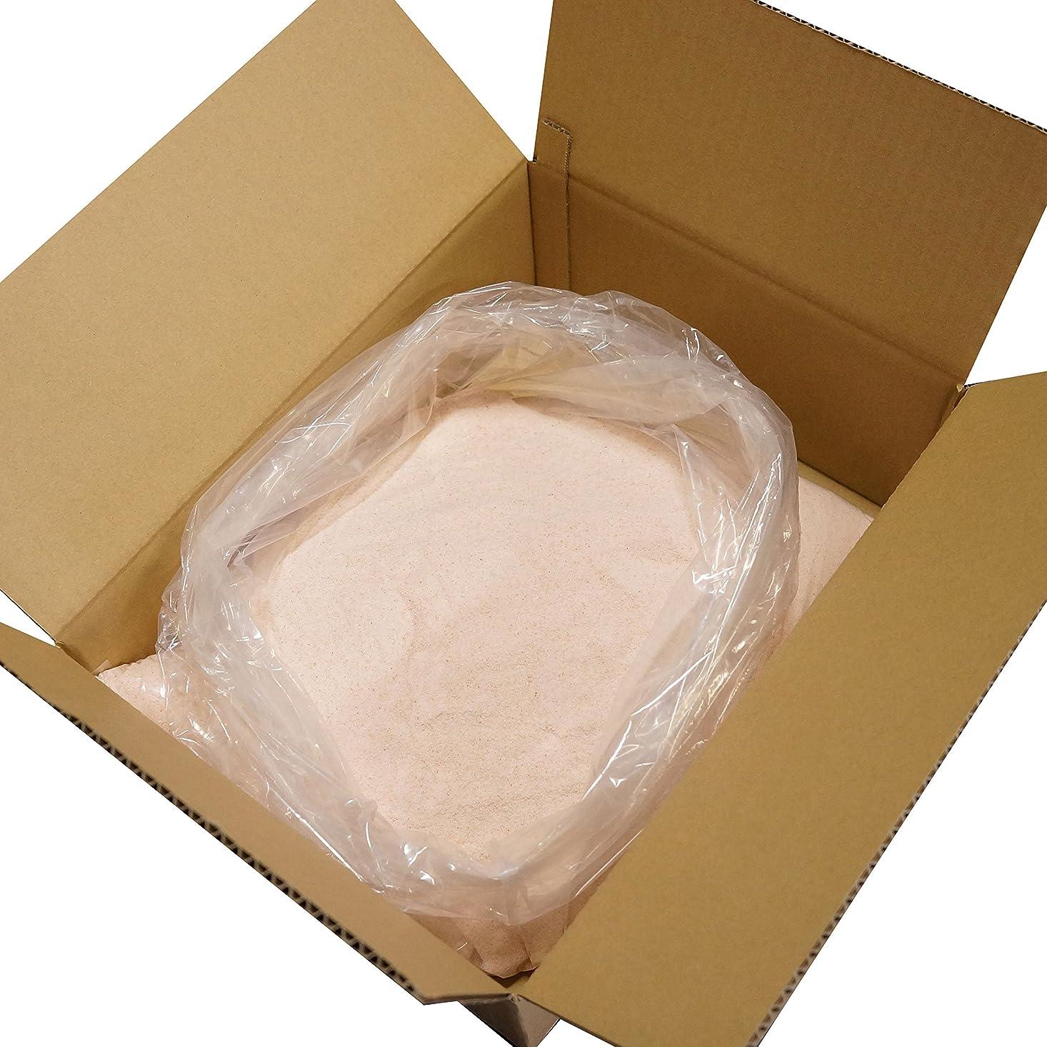 閃光カートンボリュームヒマラヤ 岩塩 ピンク パウダー 細粒タイプ 業務用 原料 (10kg)