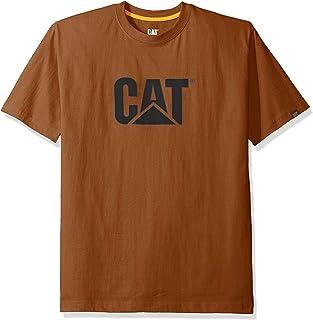 تي شيرت رجالي بتصميم شعار تي ام من كاتربيلار