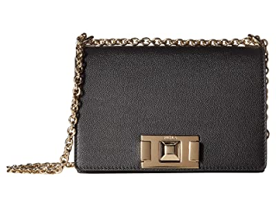 Furla Mimi Mini Crossbody (Onyx) Handbags