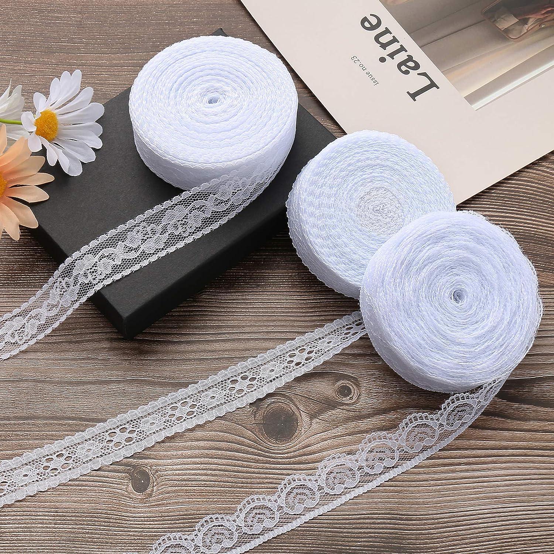 ToBeIT Approx 65 Yard White Vintage Trim DI Ribbon New Elegant sales Lace for