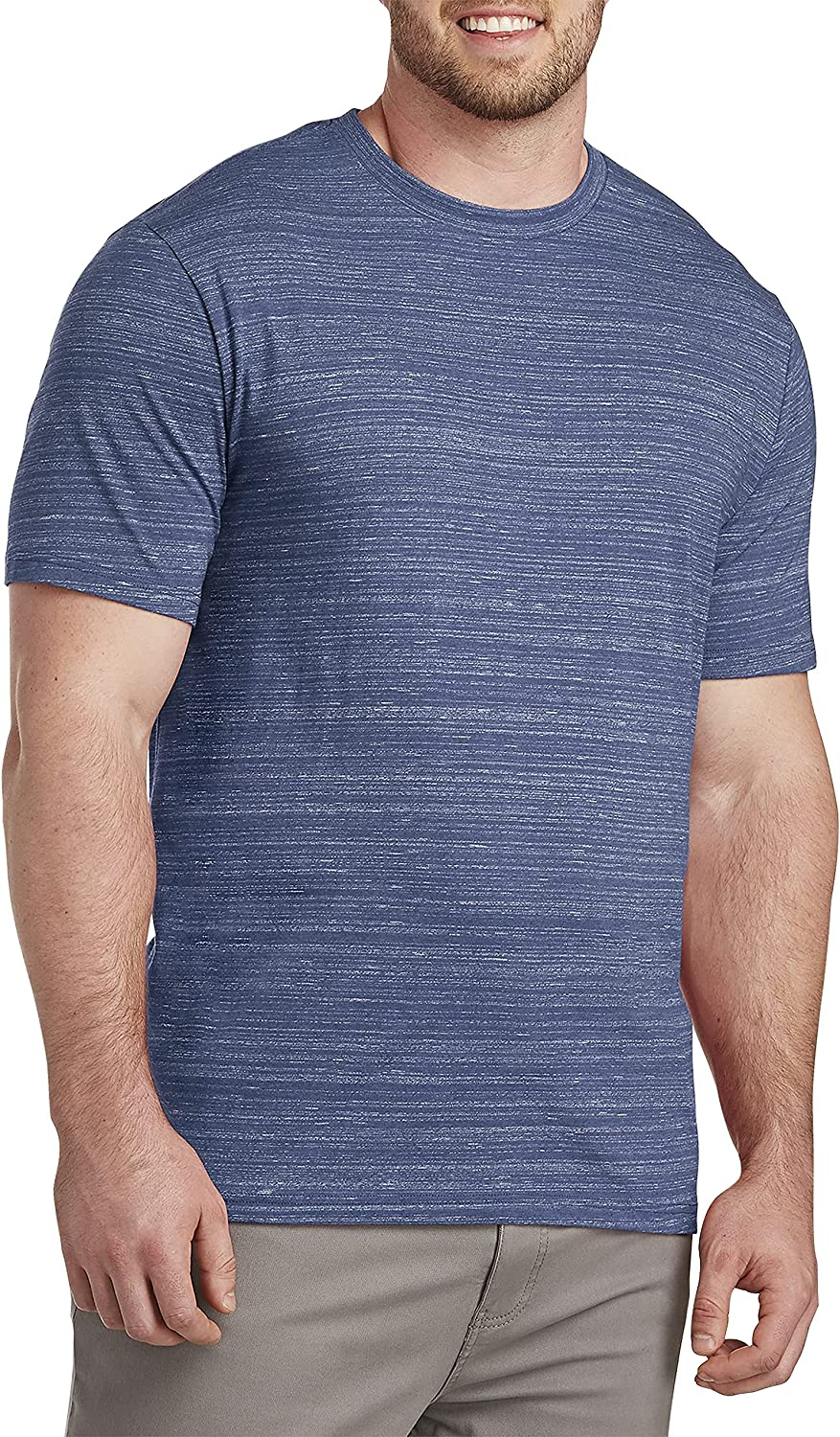 Harbor Bay by DXL Big and Tall Space-Dyed T-Shirt