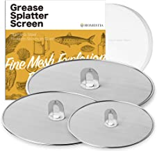 "Homestia Grease Splatter Screen for Frying Pan Fine Mesh Stops Stove Oil Guard Skillet Lid Heavy Duty, 10""+11.5""+13"""