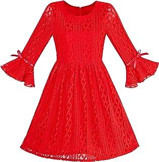 2f68351c43461 Sunny Fashion Girls Dress Purple Lotus Sleeve Lace Princess Party Dress