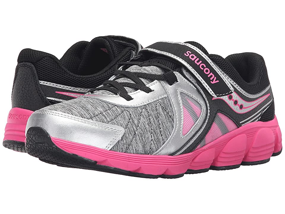 Saucony Kids Kotaro 3 A/C (Big Kid) (Silver/Black/Pink) Girls Shoes