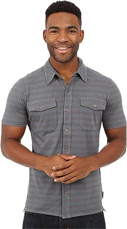 Breeze Thru Stripe Button Front Shirt