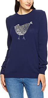 French Connection Women's Sequin Hen Knit