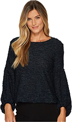 Vince Camuto - Long Sleeve Bubble Sleeve Eyelash Knit Top