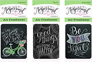 Enjoy It Ampersand Air Freshener Kit, Variety 3-Pack (Ocean Breeze, French Vanilla, New Car)