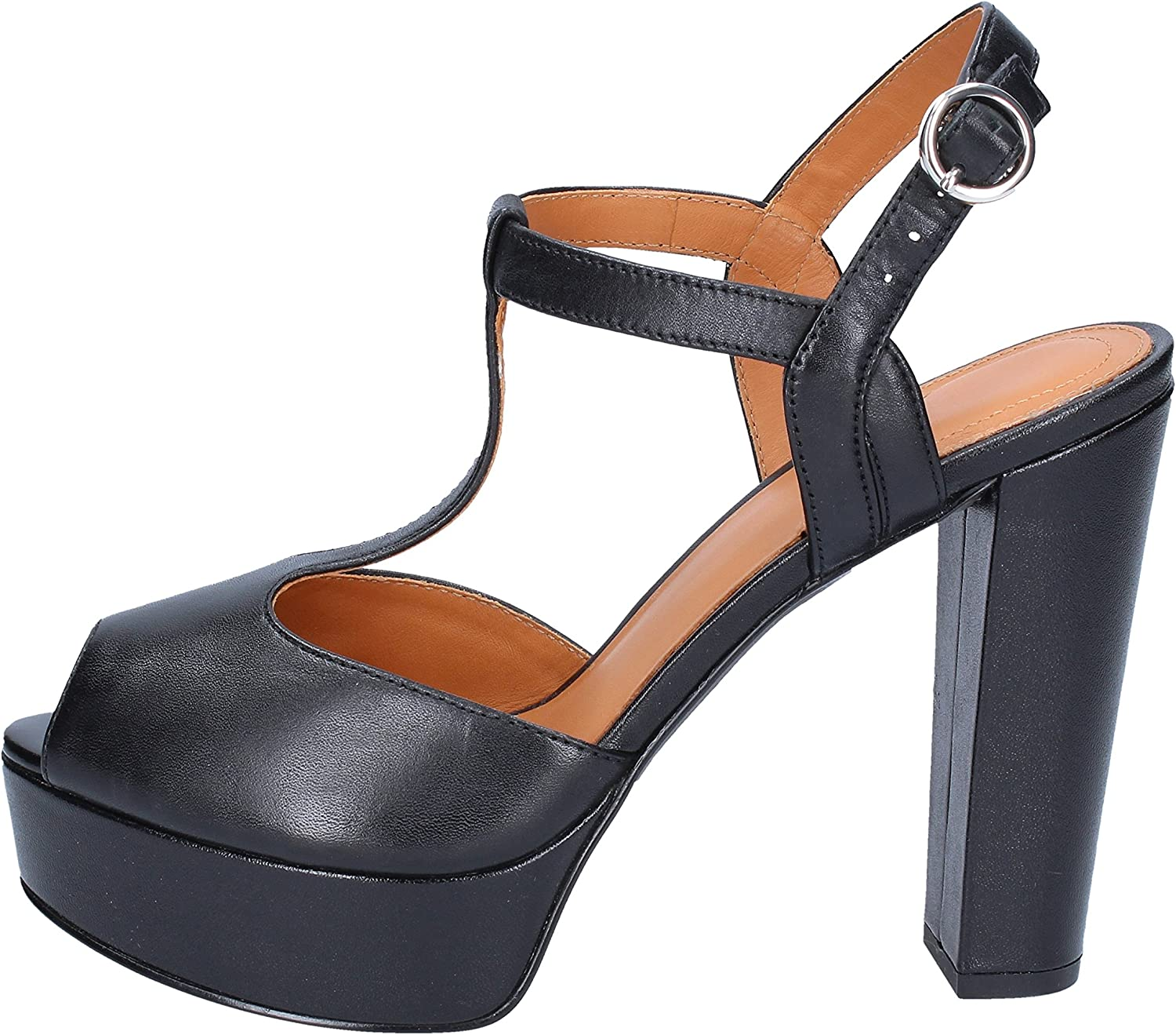 WHAT FOR Sandals Womens Leather Black