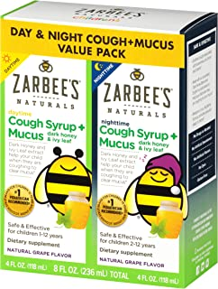 does zarbee's cough syrup work