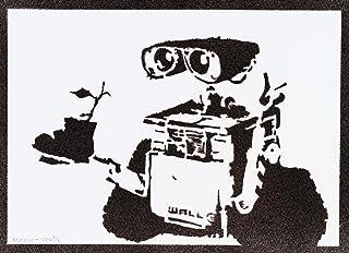 Poster Wall-E Handmade Graffiti Street Art - Artwork