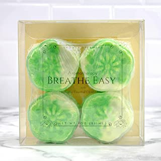 Breathe Easy- Large Eucalyptus Essential Oil and Menthol Shower Steamers Aromatherapy Set 4 pack