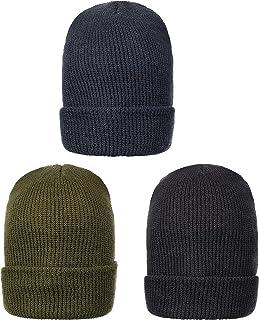 Sponsored Ad - Genuine Wool Ski Watch Cap, Made in USA, 3 Pack - 100% Wool