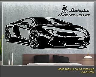 "JCM Custom Aventador Sport Car Removable Wall Vinyl Decal Stickers 58"" X 22"""