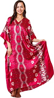 Caftan with Cherry Blossom Print, One Size, Style#Caf-67