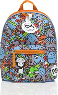 Babymel Mini Backpack and Safety Harness, Robot Blue