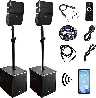 PRORECK Club 3000 12-Inch 4000 Watt DJ/Powered PA Speaker System Combo Set with..