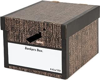 フェローズ バンカーズボックス 新701 A4サイズ 木目 3枚1セット 収納ボックス ふた付き 1007701