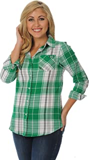 NCAA Women's Boyfriend Plaid Shirt