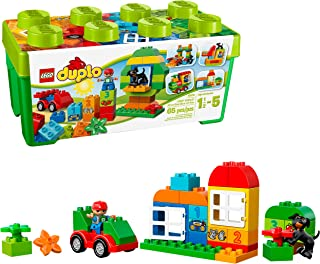 LEGO Duplo Creative Play 10572 All-in-One-Box-of-Fun, Open Ended Toy for Imaginative Play with Large Bricks Made for Toddlers and preschoolers (65 Pieces)