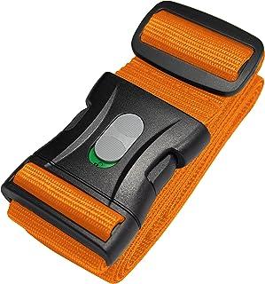 Bagageband | Bagagerem | Extra lång bagagerem (250 x 5 cm) med låsbart spänne från BE-HOLD skyddar ditt värdefulla bagagei...