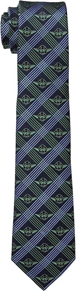 Star Wars™ Yoda Navy Plaid Tie
