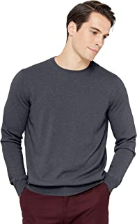 Men's Essential Crewneck Sweater 100% Pure Cashmere Classic Long Sleeve Pullover
