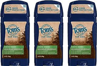 Tom's of Maine Men's Long Lasting Wide Stick Deodorant, Deodorant for Men, Natural Deodorant, North Woods 2...