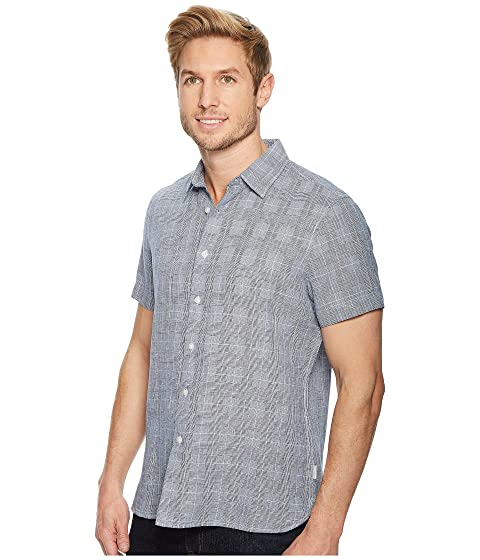 Plaid Glen Shirt Linen Perry Ellis TUwqWB