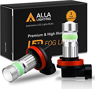 Alla Lighting H8 H11 LED Fog Lights Bulbs 8000K Ice Blue 2800lm Xtreme Super Bright COB-72 12V H16 DRL for Cars, Trucks