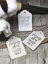 wedding flip flop tags