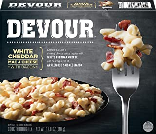 Devour White Cheddar Mac & Cheese with Bacon Frozen Meal (12 oz Box)
