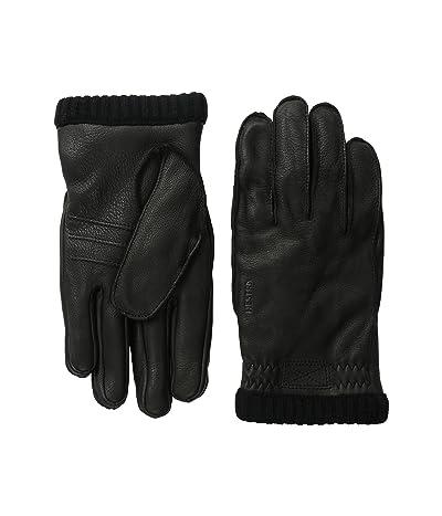 Hestra Deerskin Primaloft Rib (Black) Ski Gloves