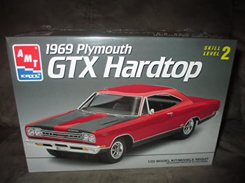 6111 AMT 1969 Plymouth GTX Hardtop 1 25 Scale Plastic Model Kit,Needs Assembly by AMT Ertl