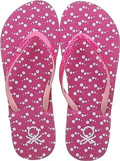 United Colors of Benetton Women's Flip Flops Pink Slippers-5 UK/India (38 EU) (19P8CFFPL304I)