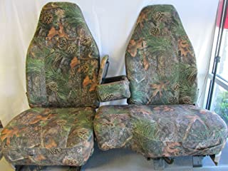 Durafit Seat Covers Made to fit 1998-2001 Ford Ranger XLT Pickup 60/40 Bench Seat with Opening Console. Camo Velour