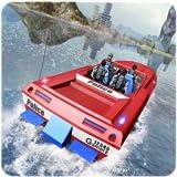 Transporteur de bateau à moteur de police
