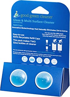 Good Green Cleaner Glass & Multi Surface Refill Set -2 Recyclable PODs of Concentrate to Refill Your Starter Set Bottle and Make 2-32oz Ready to Use Cleaner