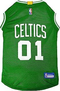 قميص رياضي للكلاب بشعار فريق بوسطن كيلتيكس بالرابطة الوطنية لكرة السلة - كبير جدًا - قميص بدون أكمام للحيوانات الأليفة