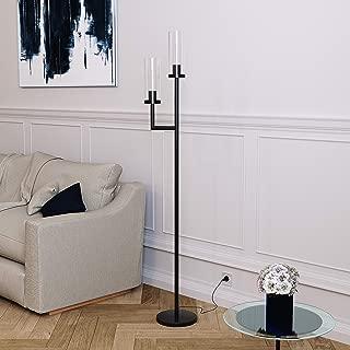 Henn&Hart FL0013 Hand Blown Glass Lamp, One Size, Black