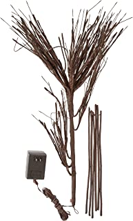 Hi-Line Gift Ltd 37396-176 Floral Lights Lighted Twig Chandelier with 110 Rice, 16-Inch Height