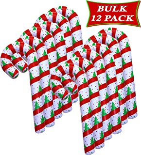SNInc. Inflatable Candy Cane Christmas Party Decorations, Christmas Candy Cane Lawn Decorations, Bulk Pack 12 Jumbo Inflatable 44