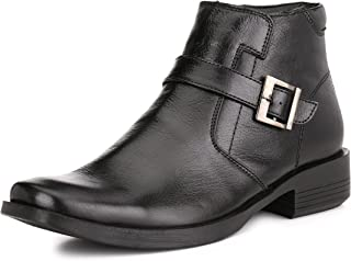 Genuine Patent Leather Boots Men Work Hiking Chelsea Cowboy Chukka Military Leather Boots with Monk Strap