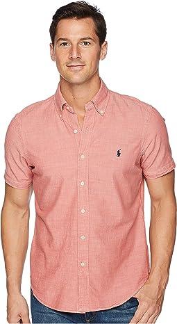 Chambray Short Sleeve Sport Shirt