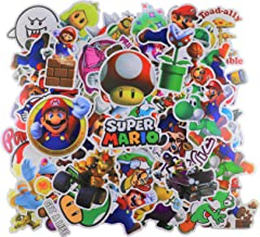 Cartoon Stickers[100pcs], Mario Stickers, Vinyl Sticker for Laptop Water Bottle Guitar Bike Car Motorcycle Bumper Luggage Skateboard Graffiti, Cute Decals, Best Gift for Kids,Children,Teen
